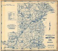 Index Map, Title Page, Benton County 1962