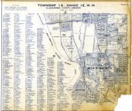Page E - Township 1 S., Range 1 E. W.M., Milwaukie, Quincy, Robertson, Clackamas County 1937