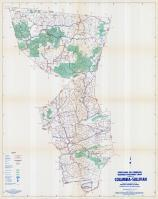 Columbia and Sullivan Counties Map, Columbia and Sullivan Counties 1958 - Waters - Highway
