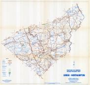 Lehigh and Northampton Counties Map, Lehigh and Northampton Counties 1958 - Waters - Highway