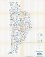 Wayne County Map, Wayne County 1958 - Waters - Highway