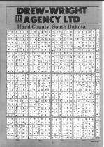 Hand County Index Map 001, Hand and Hyde Counties 1990