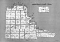 Stanley County Index Map, Hughes and Stanley Counties 1990