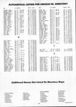 Landowners Index 018, Lincoln County 1991
