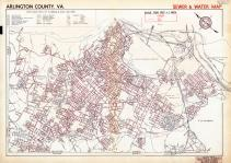 Sewer and Water Map, Arlington County 1943