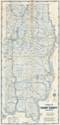 Ferry County Map, Ferry County 1940c