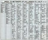 Index 1, Lassen County 1958