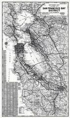 San Francisco Bay District 1980 to 1996 Eight Counties Mylar, San Francisco Bay District 1980 to 1996 Eight Counties