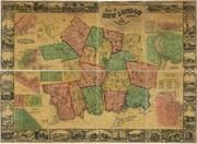 New London County 1854 Wall Map