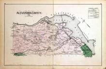 Alexandria County, Virginia, Balls X Roads, Arlington, Potomac River, Washington D.C. and Montgomery County, MD 1879