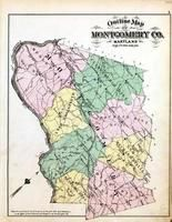 Montgomery County Outline Map, Washington D.C. and Montgomery County, MD 1879