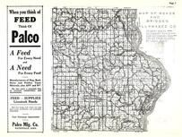Allamakee County Road and Bridges Map, Allamakee County 1950