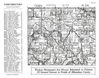 Union City Township, Allamakee County 1950
