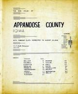 Title Page, Index, Appanoose County 1946