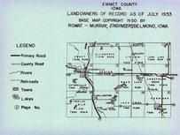 Emmet County Map, Emmet County 1953