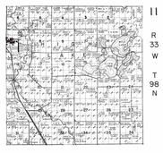 High Lake Township, Wallingford, Des Moines River, Mud Lake, Emmet County 1953