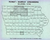 Iowa State Map, Emmet County 1953