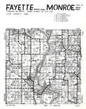 Fayette Township - South, Monroe Township - West, Linn County 1956