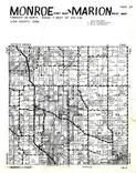 Monroe Township - East, Marion Township - West, Linn County 1956