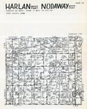 Harlan and Nodaway Townships, Page Center, Shambaugh, Page County 1957