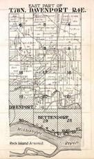 Davenport Township, Bettendorf, Mississippi River, Duck Creek, Rock Island Arsenal, Scott County 1923