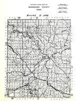 Winneshiek County Road Map, Winneshiek County 1948
