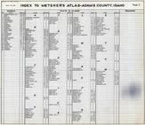 Index, Adams County 1940