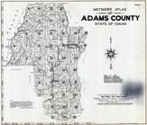 Title Page - Index Map, Adams County 1940