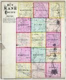 Kane County Outline Map, Kane County 1871