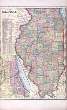 Illinois State Map, Madison County 1906