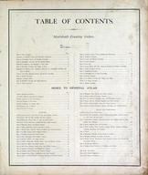 Table of Contents, Marshall County 1873