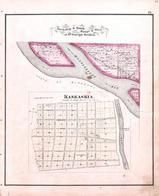 Township 8 South, Range 6 West, Kaskaskia, MIssissippi River, Randolph County 1875