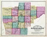 Sangamon County Sectional Map, Sangamon County 1874