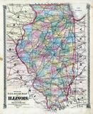 Illinois Official Rail Road Map, St. Clair County 1874