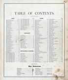 Table of Contents, St. Clair County 1874