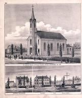 St. John's Roman Catholic Church, Priest's Residence, School and Cemetery, Dearborn County 1875