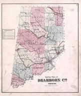 Dearborn County Outline Map, Dearborn County 1875