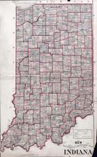 Indiana Sectional and Township Map, Dearborn County 1875