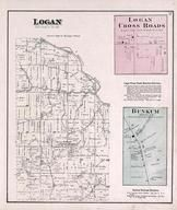 Logan Township, Logan Cross Roads, Bunkum, Dearborn County 1875