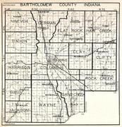 Bartholomew County, Nineveh, German, Flat Rock, Haw Creek, Union, Harrison, Ohio, Rock Creek, Wayne, Indiana State Atlas 1950c