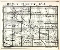Boone County, Sugar Creek, Washington, Clinton, Marion, Jefferson, Center, Union, Jackson, Harrison, Eagle, Indiana State Atlas 1950c