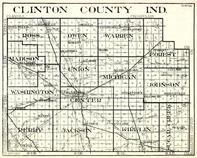 Clinton County, Ross, Owen, Warren, Madison, Union, Michigan, Forest, Johnson, Center, Perry, Indiana State Atlas 1950c