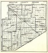Decatur County, Adams, Clinton, Fugit, Clay, Washington, Jackson, Sand Creek, Marion, Salt Creek, Indiana State Atlas 1950c