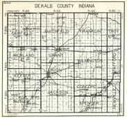 Dekalb Couty, Fairfield, Smithfield, Franklin, Troy, Richland, Grant, Wilmington, Stafford, Keyser, Union, Butler, Indiana State Atlas 1950c
