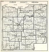 Dubois County, Boone, Harbison, Columbia, Madison, Bainbridge, Marion, Hall, Patoka, Ferdinand, Cass, Jefferson, Jackson, Indiana State Atlas 1950c