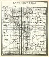 Elkhart County, Osolo, Washington, York, Baugo, Concord, Jefferson, Middlebury, Olive, Locke, Elkhart, Benton, Clinton, Indiana State Atlas 1950c