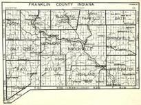 Franklin County, Posey, Laurel, Blooming Grove, Fairfield, Bath, Salt Creek, Metamora, Brookville, Ray, Indiana State Atlas 1950c