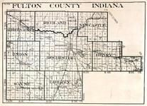 Fulton County, Aubbeenaubhee, Richland, New Castle, Union, Rochester, Henry, Wayne, Liberty, Fulton, Blue Grass, Loyal, Indiana State Atlas 1950c