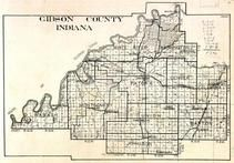 Gibson County, Wabash, Montgomery, White River, Washington, Patoka, Center, Barton, Columbia, Indiana State Atlas 1950c