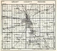 Grant County, Richland, Pleasant, Van Buren, Sims, Franklin, Marion, Monroe, Greene, Liberty, Fairmount, Jefferson, Indiana State Atlas 1950c